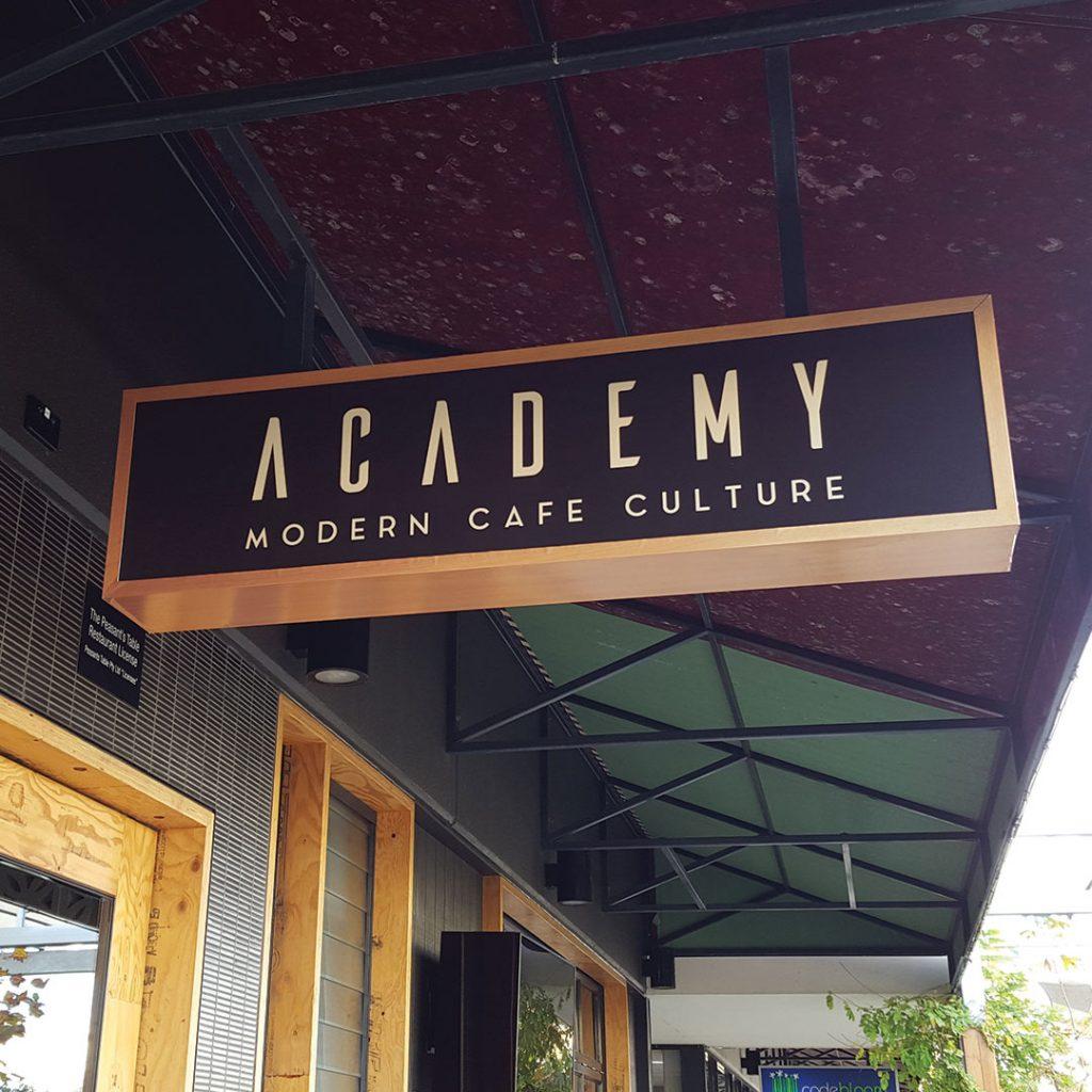 Cafe shop front signage